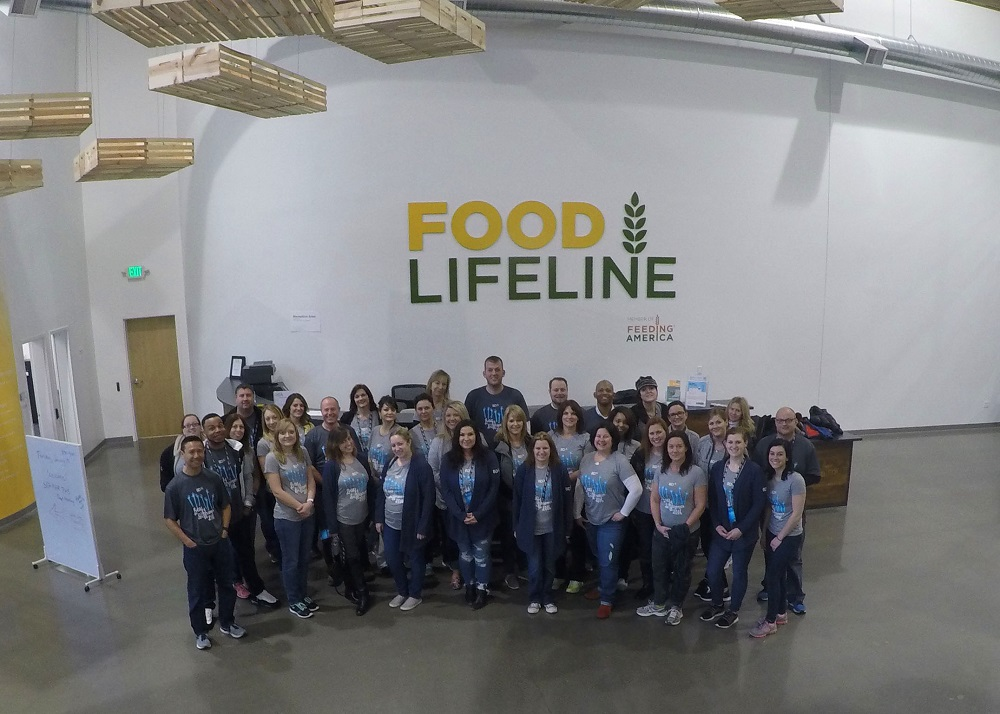 BDA volunteer group at Food Lifeline