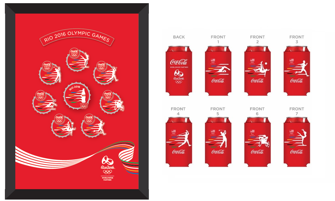 Rio 2016: Coca-Cola pins and koozies